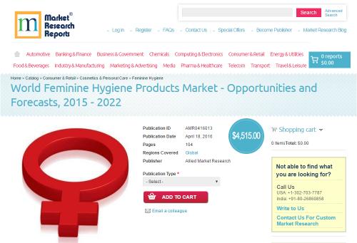 World Feminine Hygiene Products Market'