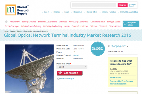 Global Optical Network Terminal Industry Market Research'