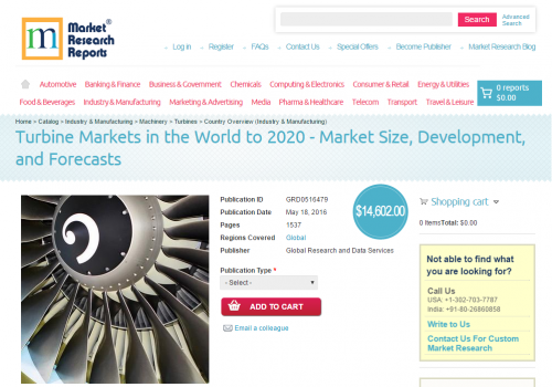 Turbine Markets in the World to 2020'