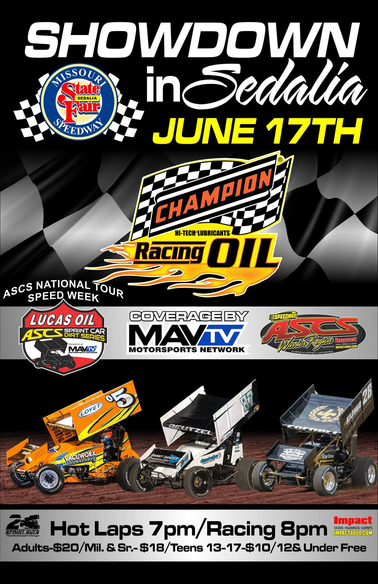 Champion Racing Oil Sponsors ASCS