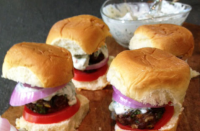 Voskos Greek Yogurt Chimichurri Sliders Recipe