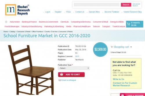 School Furniture Market in GCC 2016 - 2020'