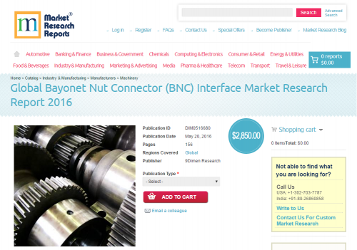 Global Bayonet Nut Connector Interface Market Research 2016'