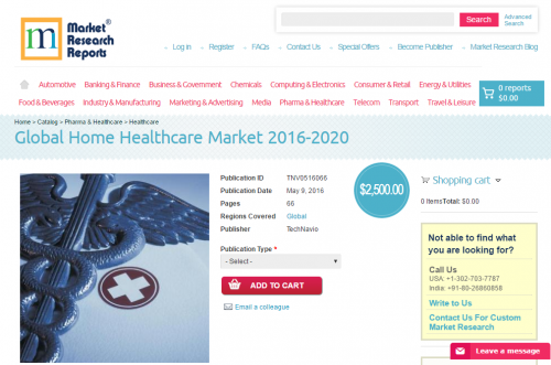 Global Home Healthcare Market 2016 - 2020'