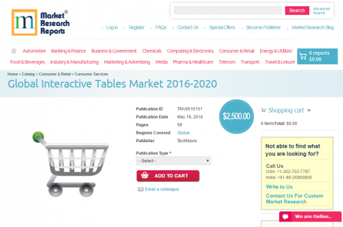 Global Interactive Tables Market 2016 - 2020'