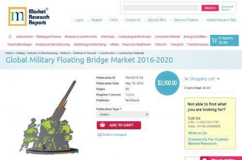 Global Military Floating Bridge Market 2016 - 2020'