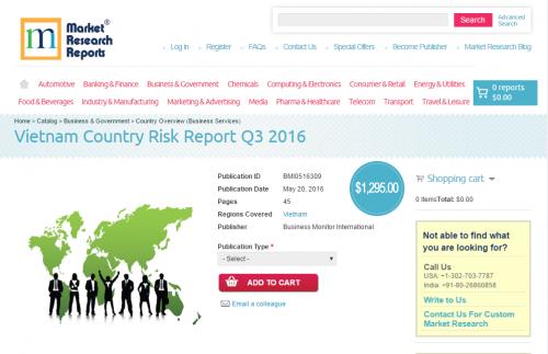 Vietnam Country Risk Report Q3 2016'