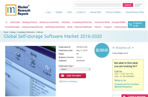 Global Self-storage Software Market 2016 - 2020'