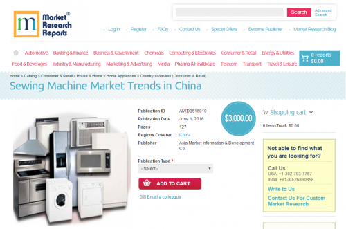 Sewing Machine Market Trends in China'