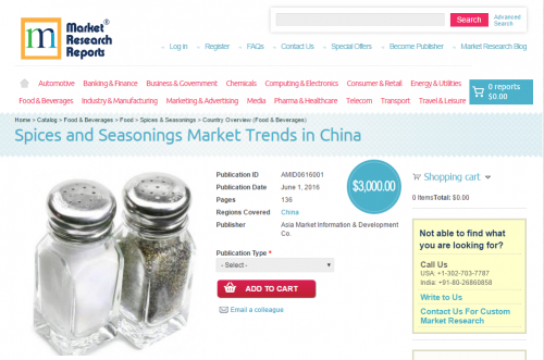 Spices and Seasonings Market Trends in China'
