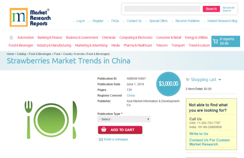 Strawberries Market Trends in China'