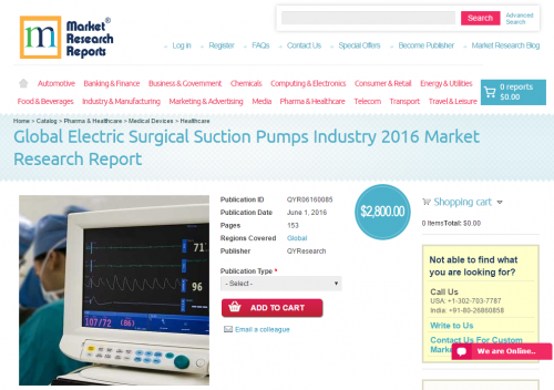 Global Electric Surgical Suction Pumps Industry 2016'