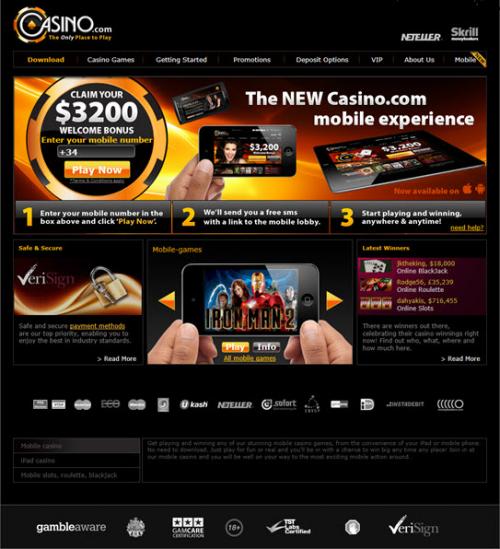 New Mobile Casino Games Portal'