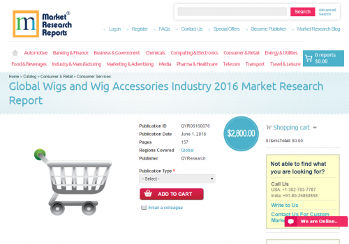 Global Wigs and Wig Accessories Industry 2016'
