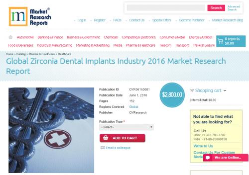Global Zirconia Dental Implants Industry 2016'