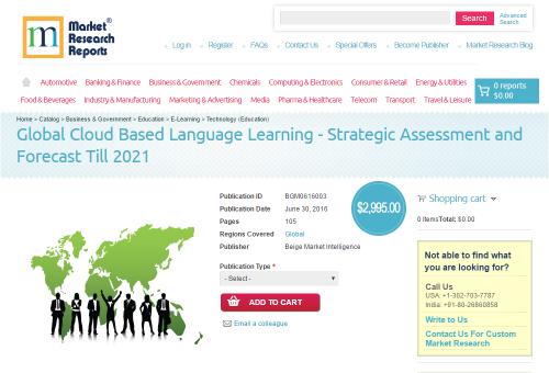 Global Cloud Based Language Learning - Strategic Assessment'