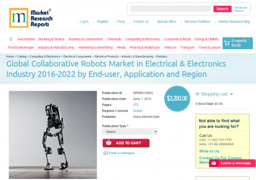 Global Collaborative Robots Market in Electrical & E'