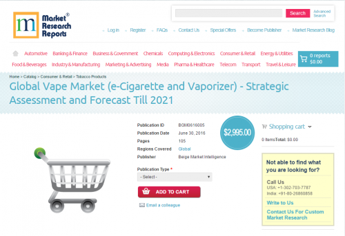 Global Vape Market (e-Cigarette and Vaporizer)'