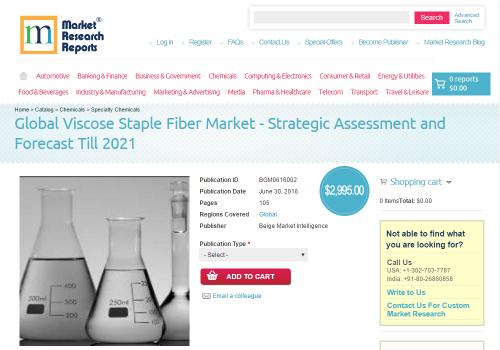 Global Viscose Staple Fiber Market - Strategic Assessment'