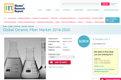 Global Ceramic Fiber Market 2016 - 2020'