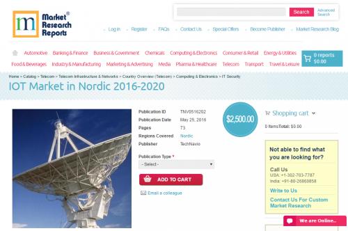 IOT Market in Nordic 2016 - 2020'
