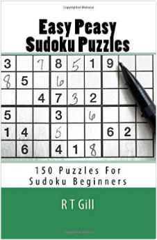 Easy Peasy Sudoku Puzzles by RT Gill now on Amazon.'
