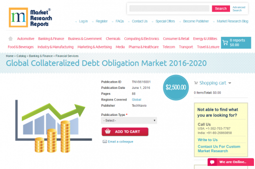 Global Collateralized Debt Obligation Market 2016 - 2020'