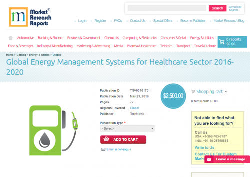 Global Energy Management Systems for Healthcare Sector 2016'