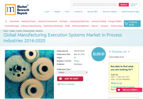 Global Manufacturing Execution Systems Market in Process'