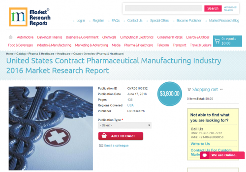 United States Contract Pharmaceutical Manufacturing Industry'