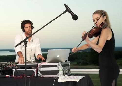 DJ Sam French & Violinist DeLaney Harter'