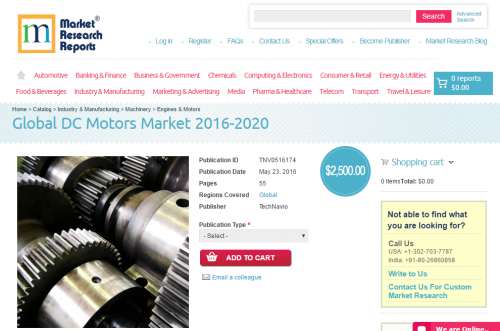 Global DC Motors Market 2016 - 2020'