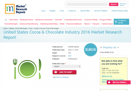 United States Cocoa and Chocolate Industry 2016'