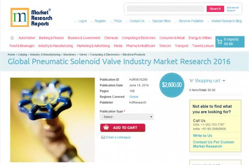 Global Pneumatic Solenoid Valve Industry Market Research'