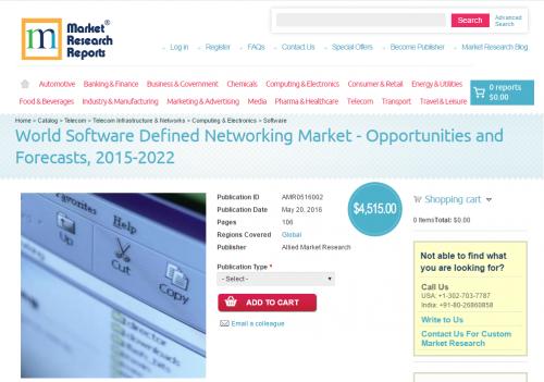 World Software Defined Networking Market - 2015-2022'