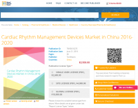 Cardiac Rhythm Management Devices Market in China 2016-2020