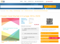 Frozen Food Market in Europe 2016 - 2020