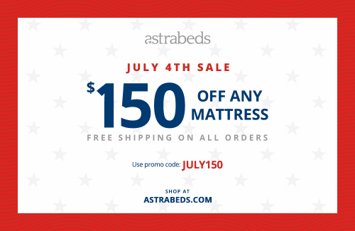 July 4th Mattress Sale on Organic Latex Beds at Astrabeds'