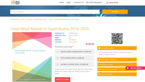 Food Retail Market in Saudi Arabia 2016 - 2020'