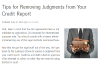 Company shows how to remove judgment from credit reports'