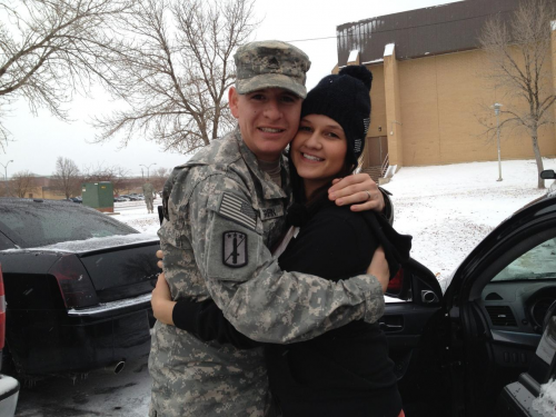 SSG Cory Griffin with his wife'