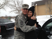SSG Cory Griffin with his wife