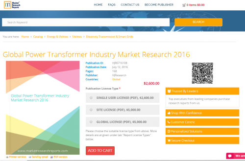 Global Power Transformer Industry Market Research 2016'