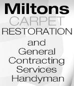 Milton's Handyman Carpet & Repair Logo