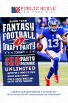 Public House NYC 2016 Fantasy Football Draft Flyer'