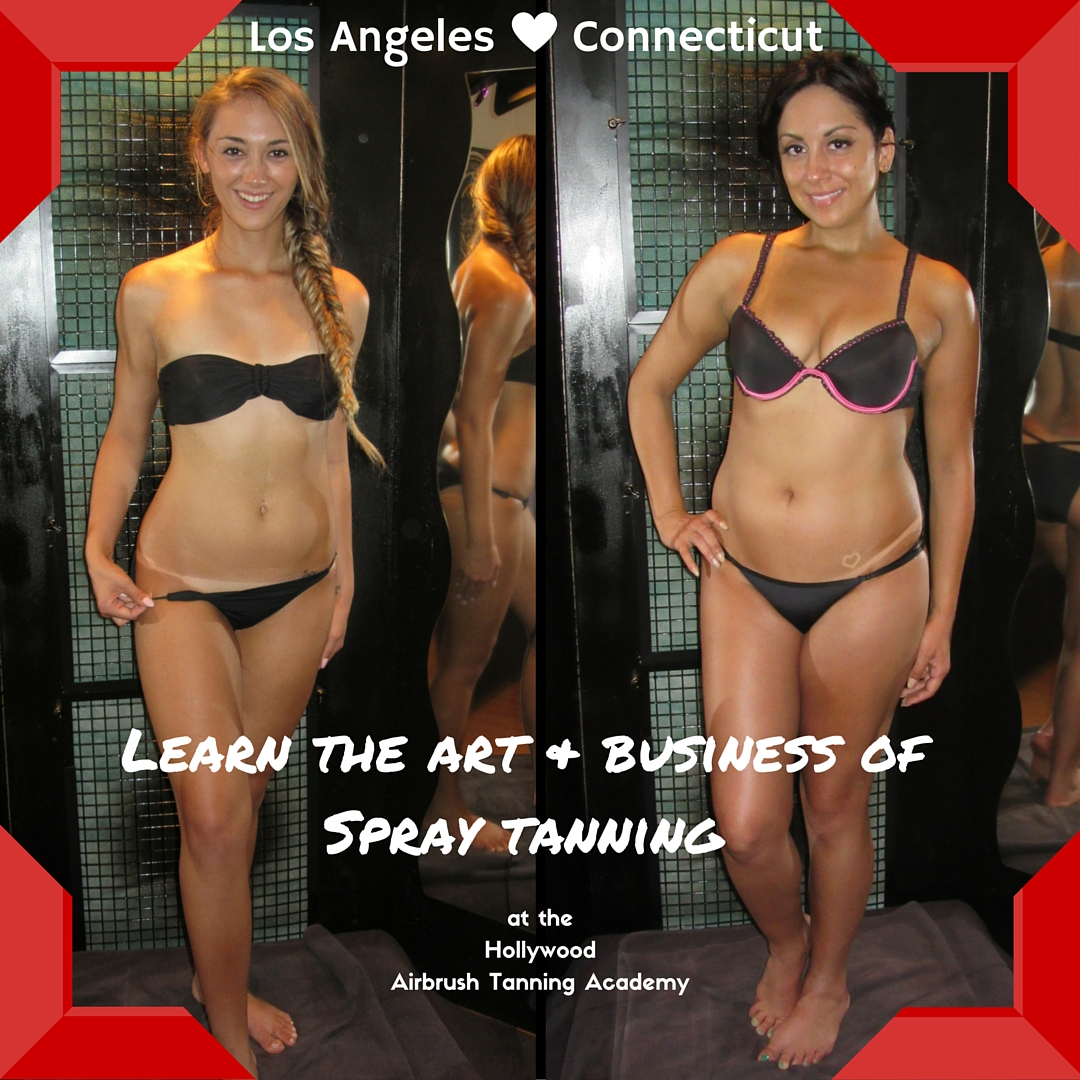 Airbrush Tanning Classes in Los Angeles and Connecticut