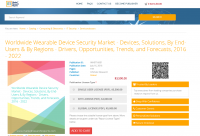 Worldwide Wearable Device Security Market 2016 - 2022