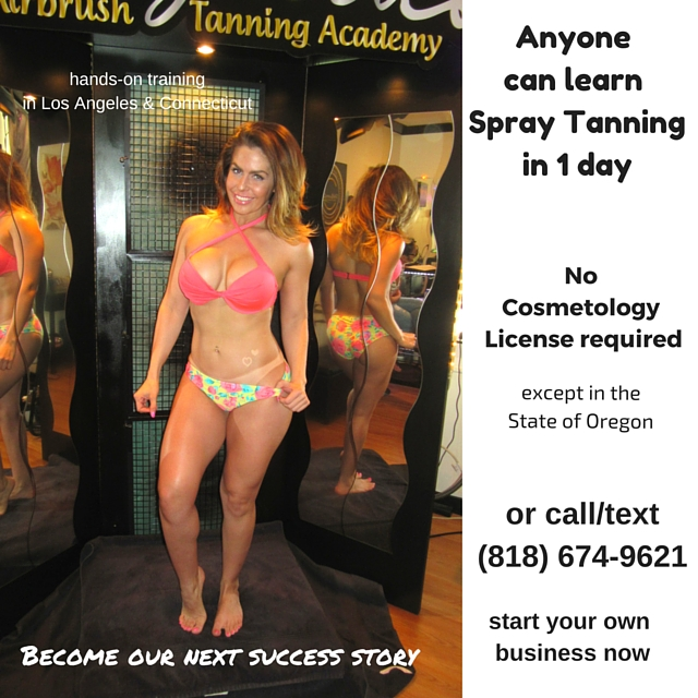 Learn spray tanning in 1 day or 1 weekend