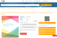 Europe Anesthesia Monitoring Devices Industry 2016