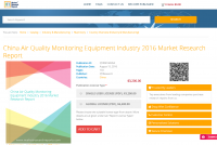 China Air Quality Monitoring Equipment Industry 2016